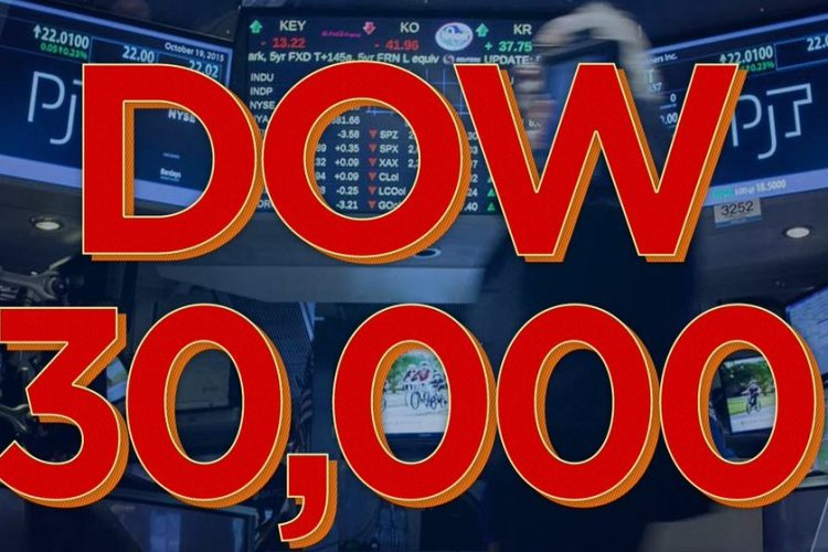 The DOW Jones Industrial closed above 30,000 for the first time