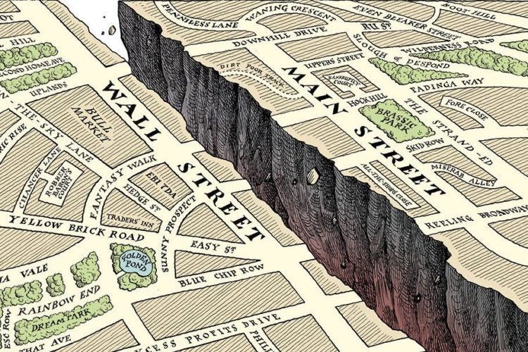 Why is Wall Street currently disconnected with Main Street?